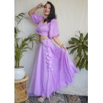 Sequin Embroidered Flared Skirt Set!