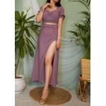 Slim Fit Slit Skirt Set!