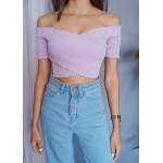 Overlapping Smocked Top