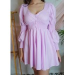 Smocked Waist Button Down Dress!