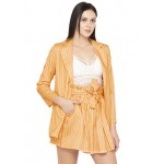 Striped Statement Blazer Skirt Set!