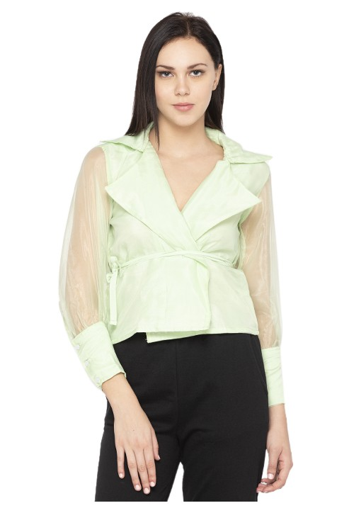 Organza Wrapped Top!