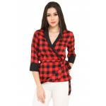 Plaids Wrapped Top!