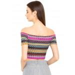 Bare Shoulder Embroidered Top!